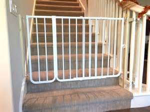 bottom of the stairs baby safety gate with custom banister