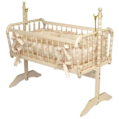 Baby Cribs And Bassinets Antique Spindle Cradle In Versailles Finish And Luxury Baby Cribs In Baby Furniture Bassinets