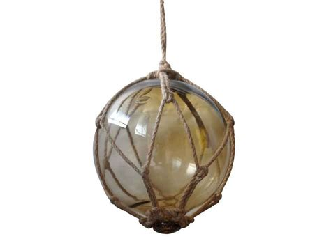 japanese glass buy amber japanese glass ball fishing float with brown netting