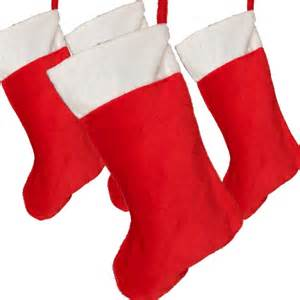 Large christmas stocking red with white cuff christmas stockings