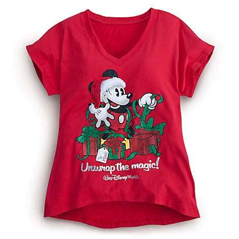 Disney WOMEN'S Shirt   Christmas   Mickey Mouse Unwrap the