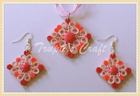Jewellery With Quilling Paper - trupti s craft paper quilling jewelry set for team event