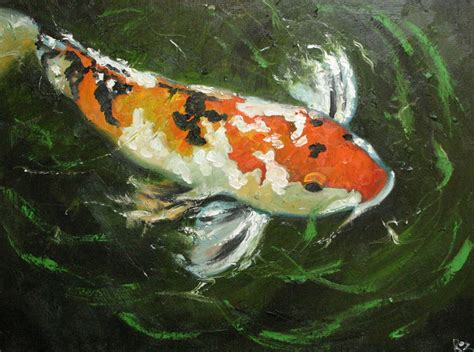 Koi Water Color 18 Warna koi 26 18x24 inch original painting by roz
