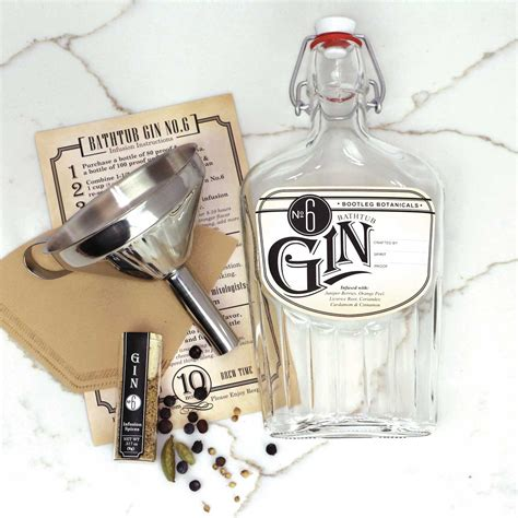 making bathtub gin diy botanical gin making kit bootleg botanicals