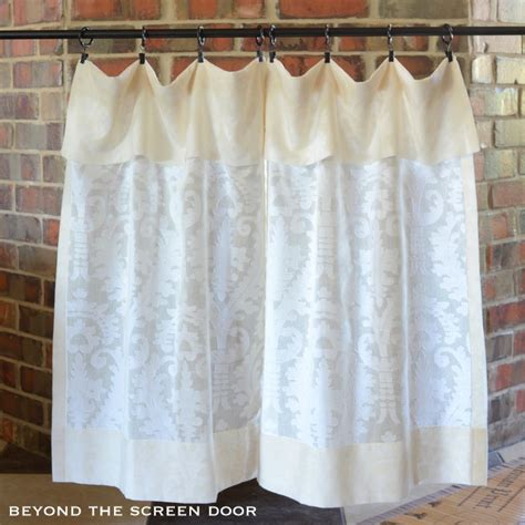 flap curtains cotton sheer cafe curtain with flap beyond the screen door
