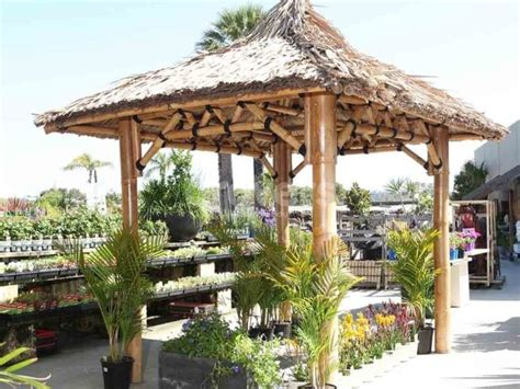 Bamboo Gazebo by Bamboo Gazebo Poles Roof 2 5 X 2 5