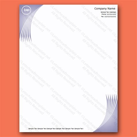 home letterhead template a wave of blue letterhead template