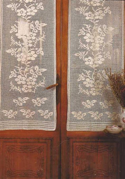 patrones cortinas ganchillo patr 243 n 7 cortina a crochet quot ramos de flores quot ctejidas