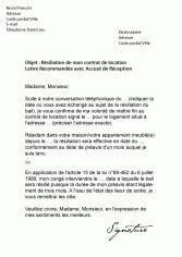 R Siliation De Bail Sans Pr Avis Lettre Resiliation Bail Appartement Meuble La R Siliation D 39 Un Bail Pour Un Meubl Modele Preavis