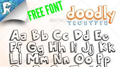 doodle free fonts doodly truetype awesome doodle free font