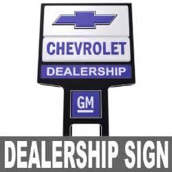 Chevrolet Signs Chevrolet Dealership Sign 3d Model