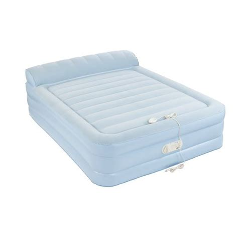 aero air bed aerobed 174 queen air mattress with headrest academy