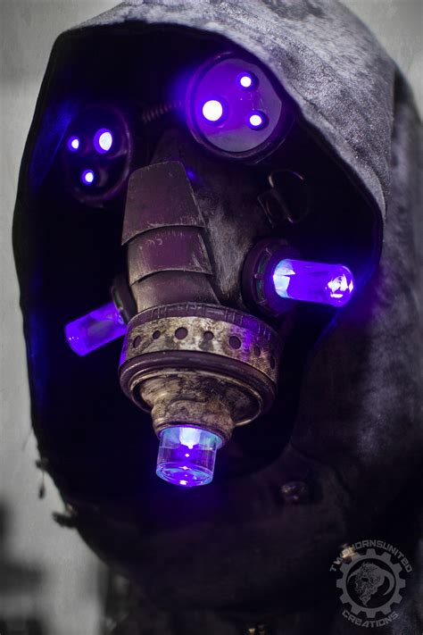 Light Mask by The Summoner Light Up Cyberpunk Mask By Twohornsunited