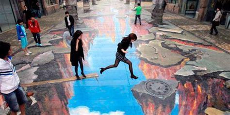 imagenes artisticas en 3d 3d art street arte urbano en tres dimensiones supercurioso