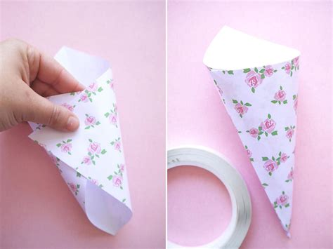 How To Fold A Cone Out Of Paper - how to make wedding confetti cones hgtv