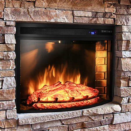 akdy curved electric fireplace insert walmart
