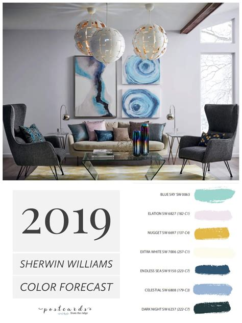 2019 paint color forecast from sherwin williams interior