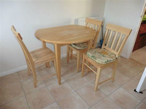 marks and spencer wooden kitchen table with four chairs