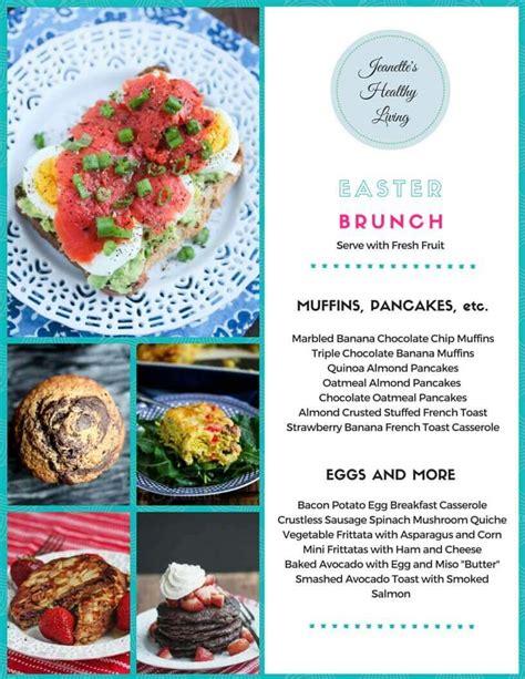 gluten free buffet menu gluten free easter brunch menu jeanette s healthy living