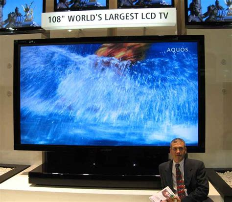 world s world s largest lcd tv 108 inch tfot
