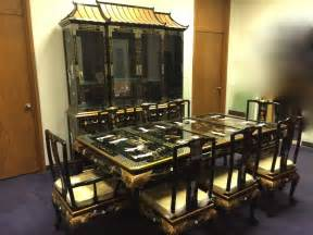 l244 oriental dining set with china cabinet oriental dining room sets best dining room furniture