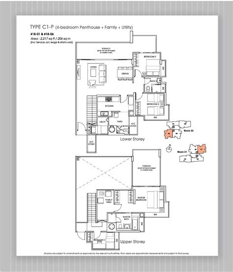 Floor Plans Home Penthouse 4 Bed Versilia On Haig