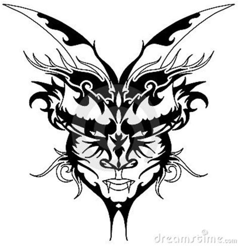 tribal devil tattoo images designs