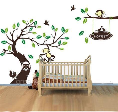 scroll tree wall sticker owl scroll tree wall decal nursery stickers removable