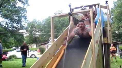 diy backyard slide diy slip slide 3rd annual slip n yardie compilation