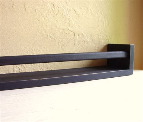 Spice Rack Wall Shelf Distressed Black Wood Wall Shelf Spice Rack Spice Racks