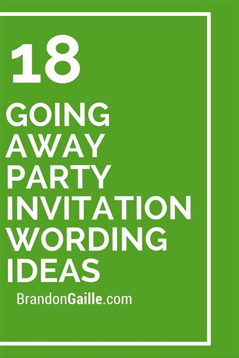 18 Going Away Party Invitation Wording Ideas Invitation Wording Ideas And Party Invitations Going Away Invitation Template Free