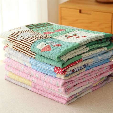 Cotton Quilted Blankets 100 Cotton Quilted Blanket 135x185cm 1 5kg Summer