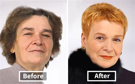 over 50 makeovers before and after russian stylist wants to prove that every woman is a queen