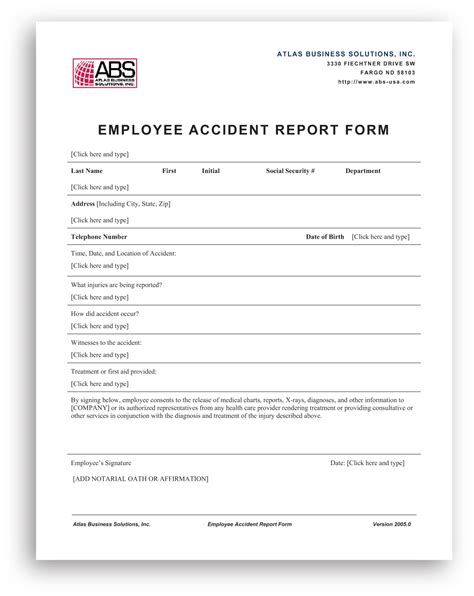 car accident company car accident report
