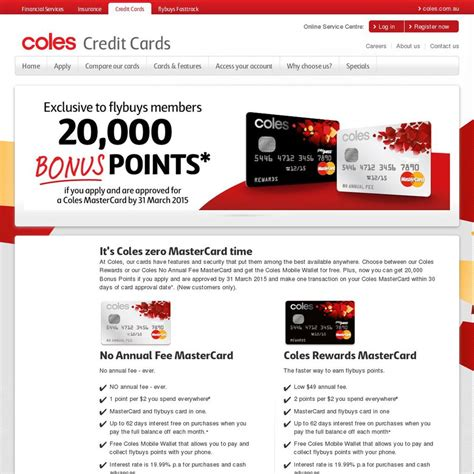 Rebel Gift Card Coles - coles mastercard with 20 000 bonus flybuy points worth 100 ozbargain