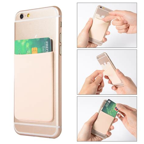 Credit Card Iphone Stand Template lycra phone stick on wallet credit card holder adhesive 5