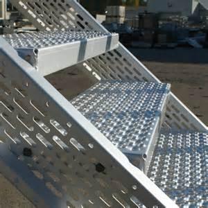 aluminium treppe treppenstufen f 252 r au 223 en graepel treppen aus edelstahl