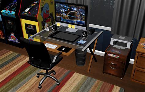 room computer desk by greenmachine987 on deviantart