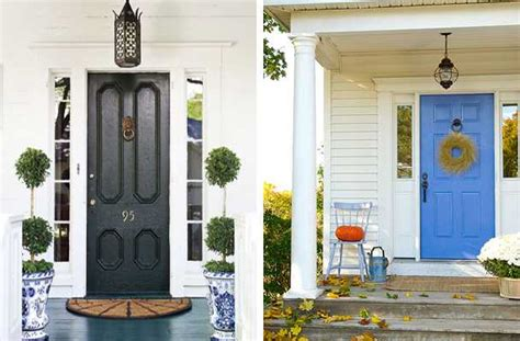 exterior wood door decorating with paint colors to personalize home design and feng shui homes