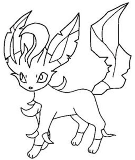 pokemon coloring pages feraligatr drawing printout how to draw leafeon