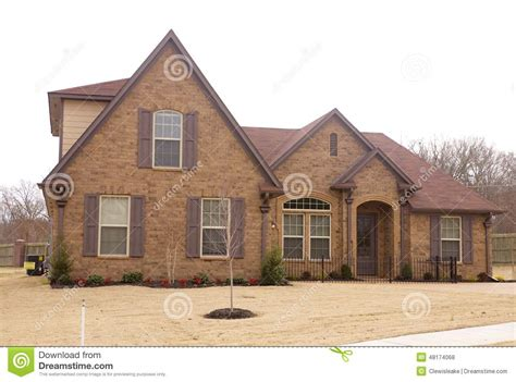 new housing area in beautiful royalty free stock photo