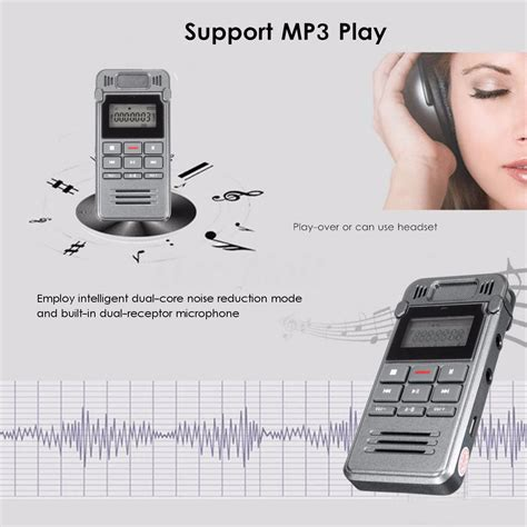 810 8gb Rechargeable Digital Voice Recorder Mp3 With Ti Murah 8gb digital audio voice recorder recording rechargeable