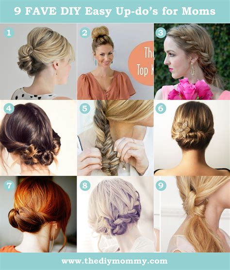 easy hair style updo tutorials for a busy mom the diy mommy