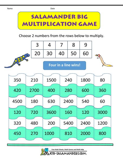 printable multiplication games for 3rd grade free printable multiplication games worksheets