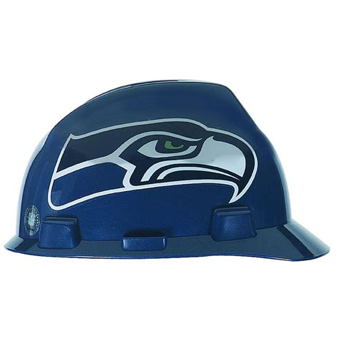 msa safety works seattle seahawks nfl hard hat 818441 the home depot