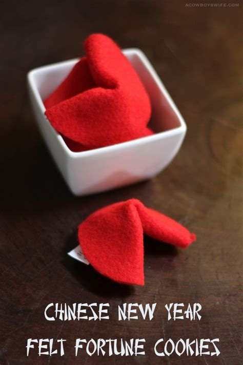 new year and fortune cookies new year felt fortune cookies craft a cowboy s