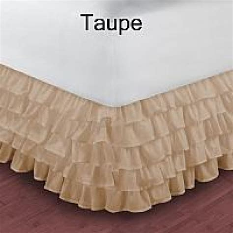 taupe bed skirt twin size ruffle bed skirt egyptian cotton 1000tc taupe