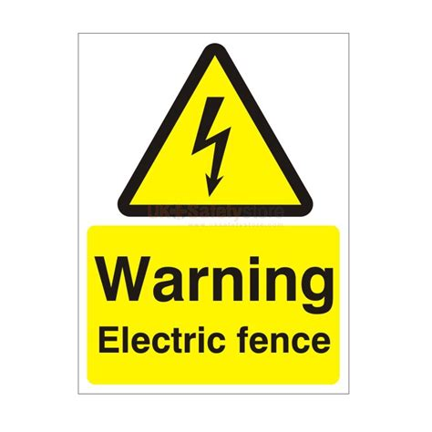 Next Wall Sticker warning electric fence safety sign electrical safety
