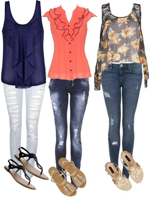 ripped skinny jeans polyvore pin by heather johnson on i d wear that pinterest