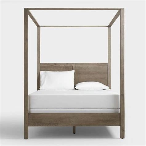 world market canopy bed gray marlon queen canopy bed world market